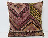 24x24 kilim pillow 24x24 kilim fabric euro sham chevron primitive decor cotton cushion cover bohemian pillow case turkish pillow case 25515