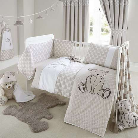 Archie Bear Nursery Cot Bed Duvet Cover And Pillowcase Set