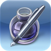 Pages - is a pretty decent word processor which is rich in functions (for a mobile app) and will interface with iCloud if required. You can save documents in Word format if you happen to be a Windows person (like me) with no conversion problems.