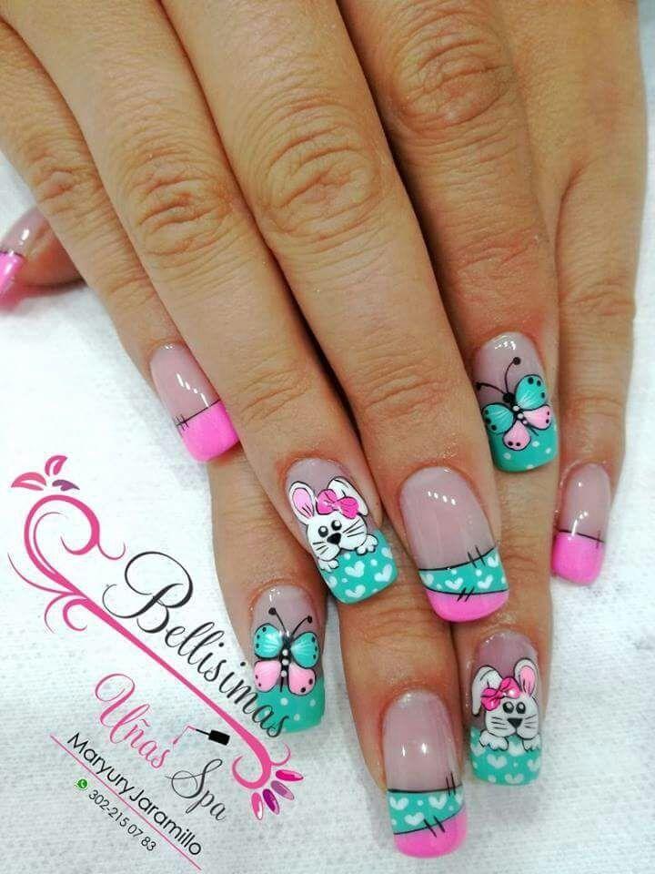 8 best Diseños de Uñas images on Pinterest   Nail scissors, Nail ...