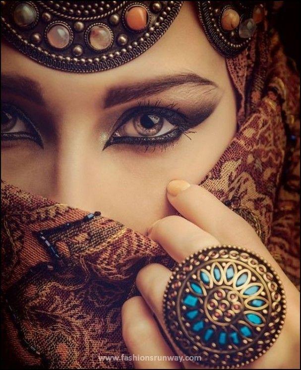 Arabic Makeup Tutorial 2016 – 10 Best Arabian Eye Makeup Looks  #arabic…