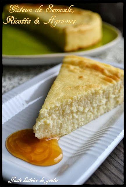 Juste histoire de goûter: Gâteau de Semoule, Ricotta & Agrumes - Migliaccio ...
