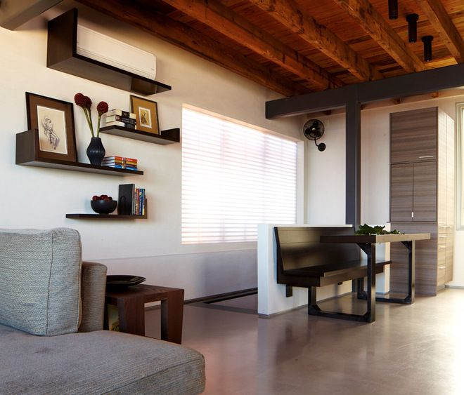 Modern Living Room By Narofsky Architecture + Ways2design Notice The AC  Unit Hidden In Plin View