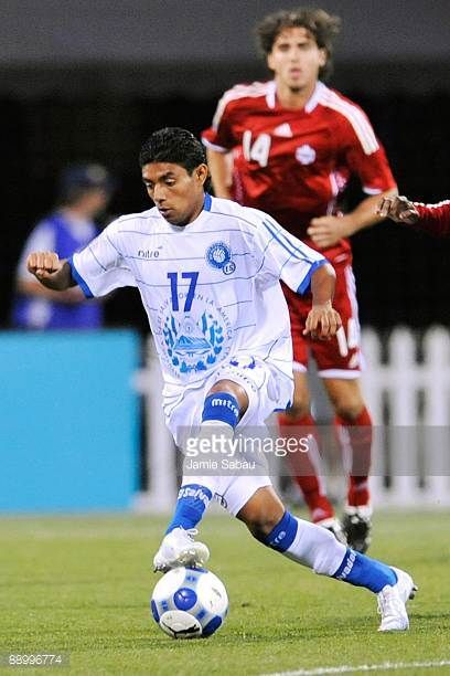 Christian Castillo of El Salvador controls the ball against Canada during a CONCACAF Gold Cup match at Crew Stadium on July 7 2009 in Columbus Ohio