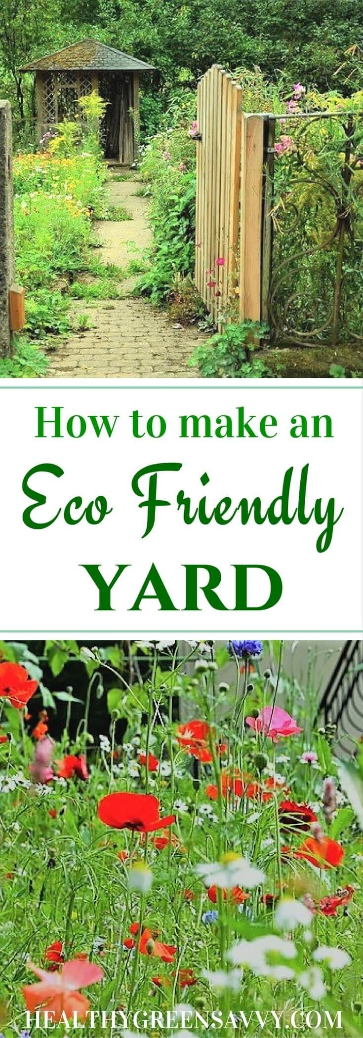 Eco friendly landscaping benefits you AND the planet! Save money, improve air quality, and capture carbon in your yard with these strategies. Put your yard to work for the planet!   eco friendly landscaping   gardening tips   climate change   environmentalism  