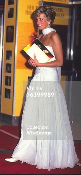 princess diana movie premiers   princess diana archive caption princess diana at royal film premiere ...