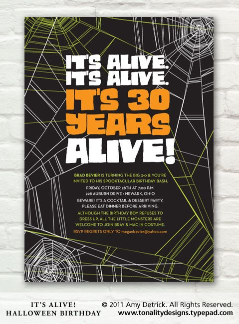 The Best Halloween Birthday Party Invitations Ideas On - Birthday invitation halloween