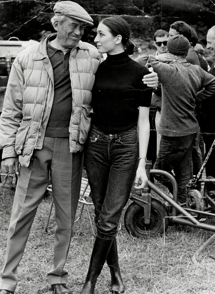 John y Anjelica Huston durante el rodaje de 'A Walk with Love and Death' (1969)