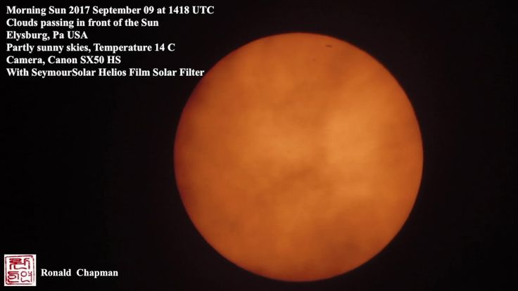 Morning Sun 2017 September 9, 2017, at 14:18 UTC