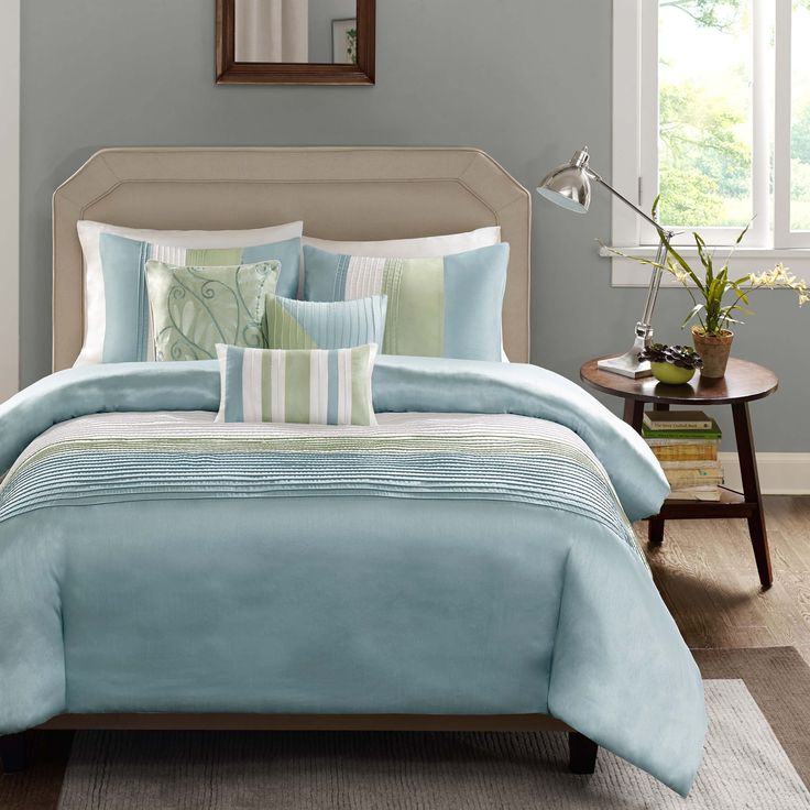 Madison Park Eastridge Aqua 7-piece Comforter Set