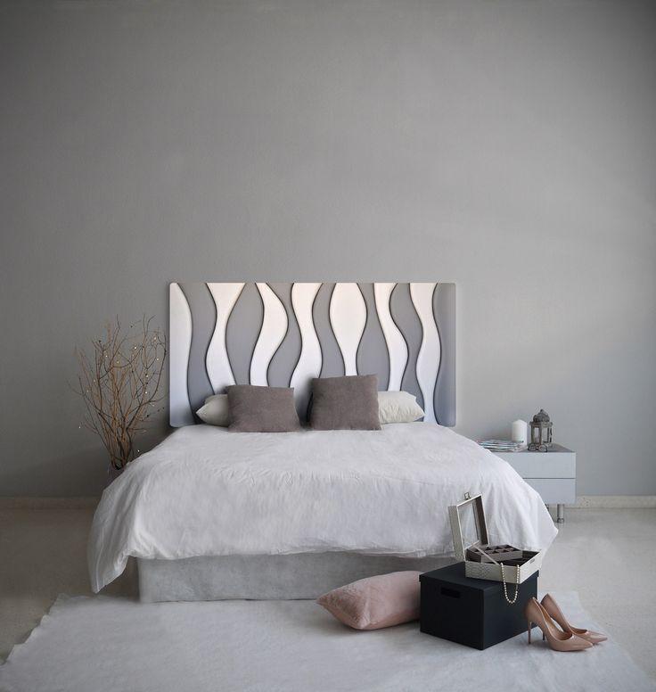 Las 25 mejores ideas sobre cabeceros tapizados grises en - Cabeceros de cama tapizados tela ...