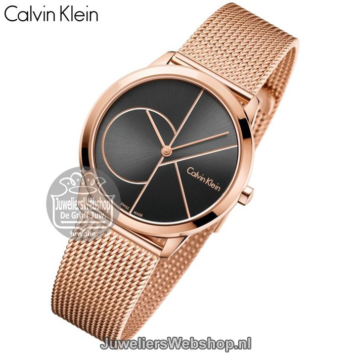 Calvin Klein Minimal MIDSIZE K3M22621 Horloge Dames Rose. Collectie 2017 #calvinklein #ckwatch #horloges #juwelierswebshop