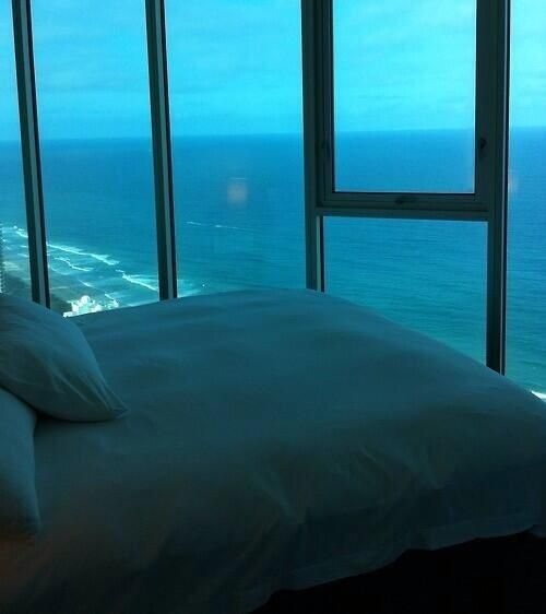 Awesome bedroom view with glass panels... Amazing!