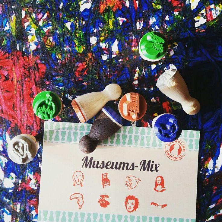 Museum Set!! #thescream #munch #vangogh #matisse #monalisa #dali #monet #warhol #michelangelo #sistinechapel #davinci #ministempels #lilypads #marilyn  Available from www.annieponline.com
