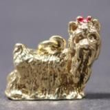 Yorkshire Terrier gold-plated PENDANT