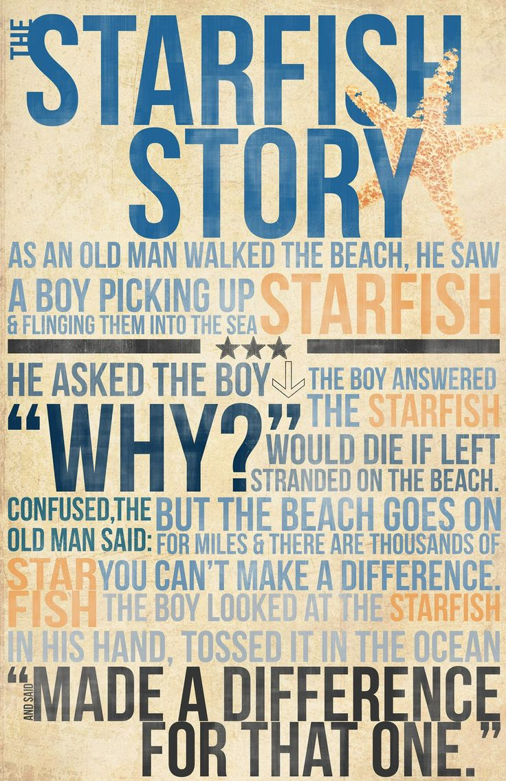 The Starfish Story (boy)                                                                                                                                                      More