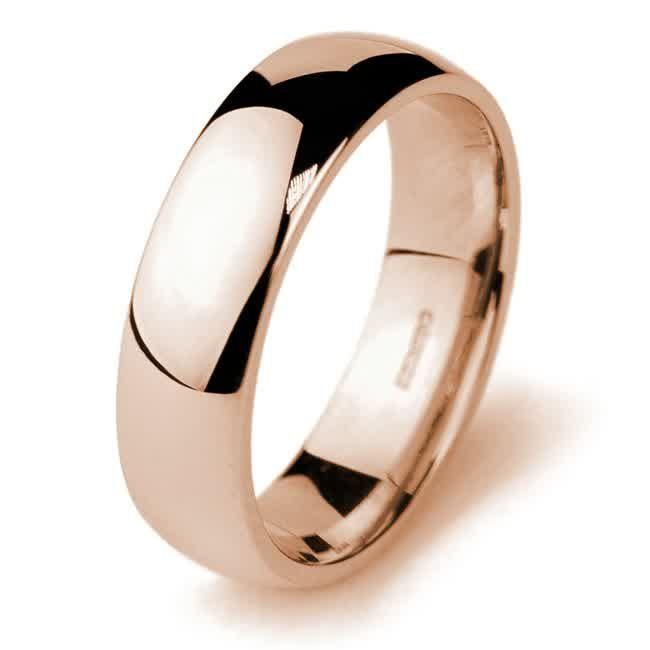 Mens Rose Gold Wedding Band