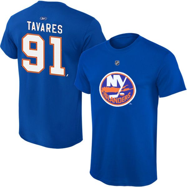 ... John Tavares New York Islanders Reebok Youth Name and Number Player T- Shirt - Royal Buy Islanders 91 John Tavares Navy Blue ... 817fbcf29