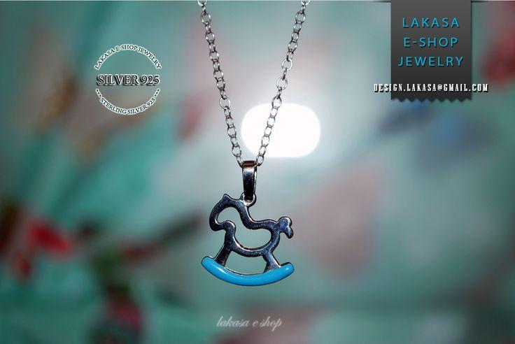 Αλογακι Σμαλτο γαλαζιο Παιδικο Κολιε Ασημενιο Αλυσιδα 925 Επιπλατινωμενο Μικρο μου Πονυ | Lakasa e-shop #baby #boy #girl #newborn #blue #enamel #necklace #chain #sterling #silver #jewelry #motherday #joyas #mujer #woman #moda #jewellery #little #pony #horse #carousel #νονα #νονος #βαπτιση #γυναικα #μωρο #νεογεννητο #δωρο #γενεθλια #παιδικο #κοσμημα #ασημενιο #επιπλατινωμενο #αλυσιδα #αλογακι #μικρο #πονυ