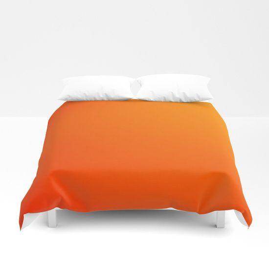 Shades Of Orange Duvet Cover