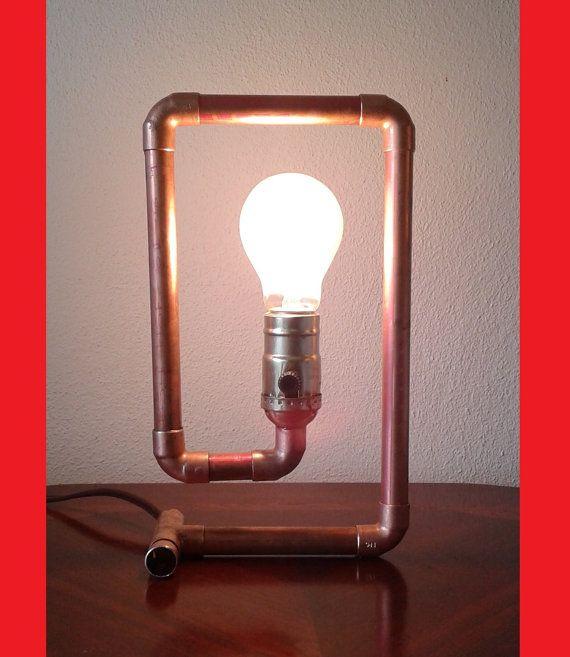 Kupferrohr-Lampe The Spiral von TonyLamps auf Etsy