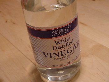 white vinegar in place of Jet Dry