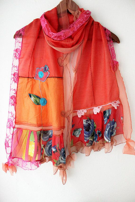 Red cotton scarf Red scarf Red cotton shawls woman red