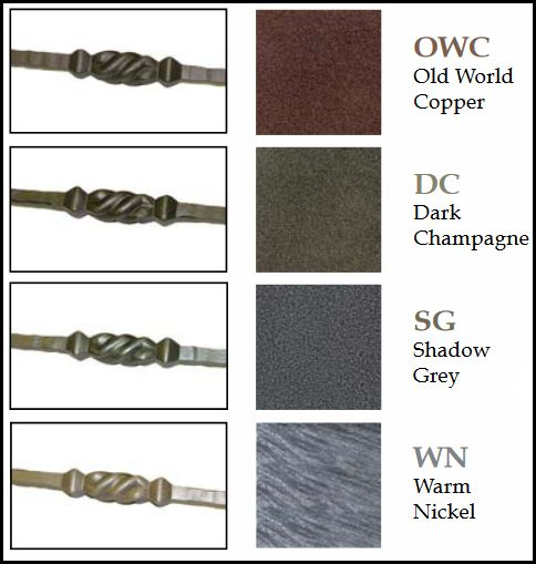 Italian Wrought Iron Balusters And Newels In Various Colors Including: Old  World Copper, Dark