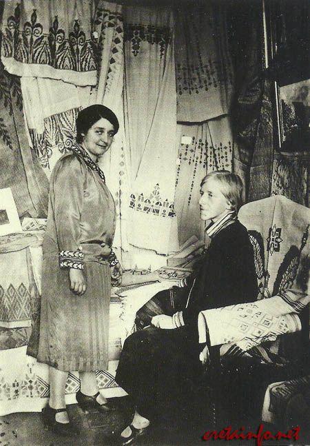 ΦλωρεντίνηςΣκουλούδη-Καλούτση (1894-1971),  Γεννήθηκε στο Ρέθυμνο.  Πατέρας της ήταν ο δικηγόρος Γεώργιος Α. Σκουλούδης (από τις Μαργαρίτες) και μητέρα της η Δντρια στο Παρθεναγωγείο Ρεθύμνης Κλεοπάτρα Πετυχάκη. Ζωγράφος, Ιδρυτής του Λυκείου Ελληνίδων Χανίων, συνιδρυτής του Συλλόγου για την διάδοση των καλών τεχνων στην Κρήτη, διαδίδει την κρητική υφαντίκη και τον κρητικό αργαλειό κλπ http://www.cretainfo.net/product.asp?lang=0&id=157