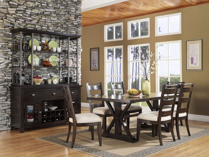 Del Ray Casual Trestle Dining Table Side Chair Set By Pulaski Furniture