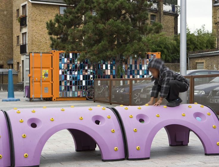A project by artist Garry Webb called Making Space in Dalston. Square One - Stage Hire and Set Design Company in Leighton Buzzard - Helped to fulfil this vision into a reality. www.squareone.uk.com