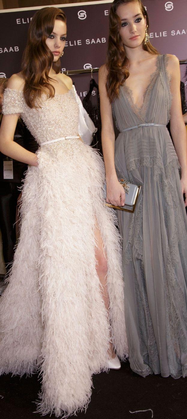 Backstage at Elie Saab Couture Spring 2015