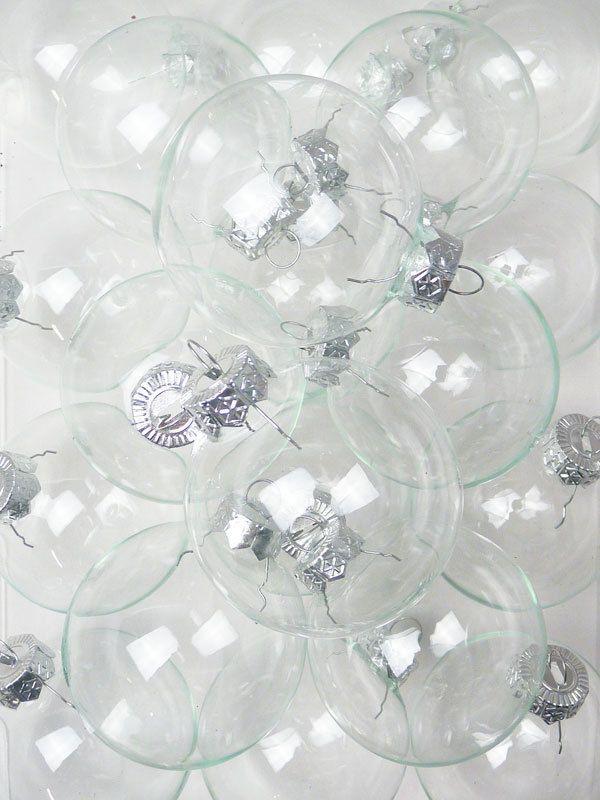 Kristall KLAR - 20 Christbaumkugeln aus Glas- transparent in Möbel & Wohnen, Feste & Besondere Anlässe, Jahreszeitliche Dekoration | eBay