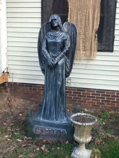 halloween statue 2012 black angel - Halloween Statues