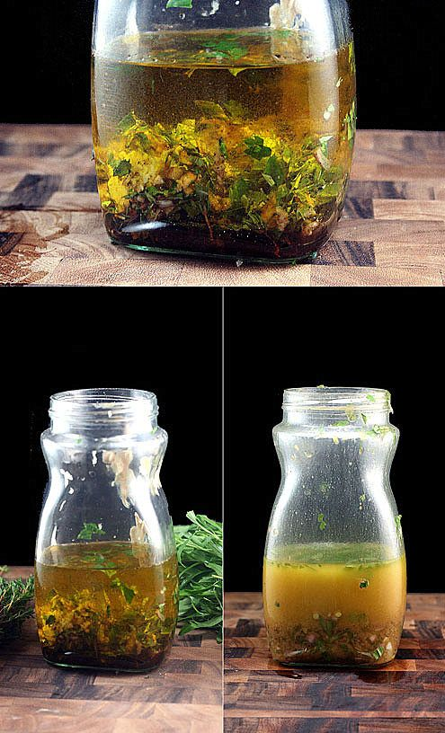 This might be the best vinaigrette you'll ever have. Loaded with garlic and herbs, plus honey, dijon, and a little bit of a secret ingredient..it elicits raves from all who try it. Dump all the ingredients in a clean, empty jar with a lid, and shake...that's it! #recipe