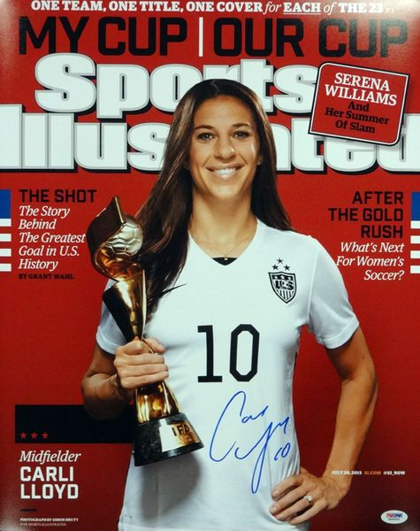 Carli Lloyd Autographed 16x20 SI Cover Photo Team USA PSA/DNA ITP Stock #93002