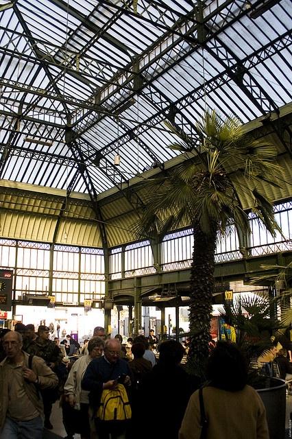 Glass roof in Gare de Lyon by Éole, via Flickr