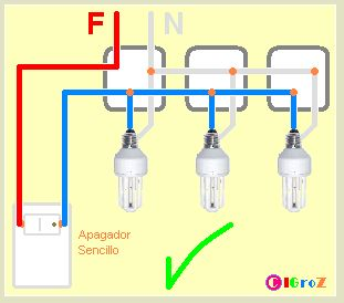 Conexión en PARALELO.  Cuando conectes dos o más lámparas incandescentes o fluorescentes compactas (focos ahorradores) en una instalación re...