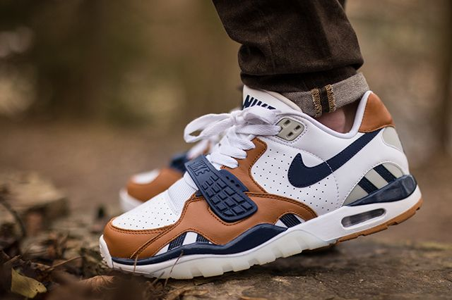 low priced 6fc31 ae7ab Nike Air Trainer Sc Ii Low Premium (Navy Ginger) - Sneaker Freaker
