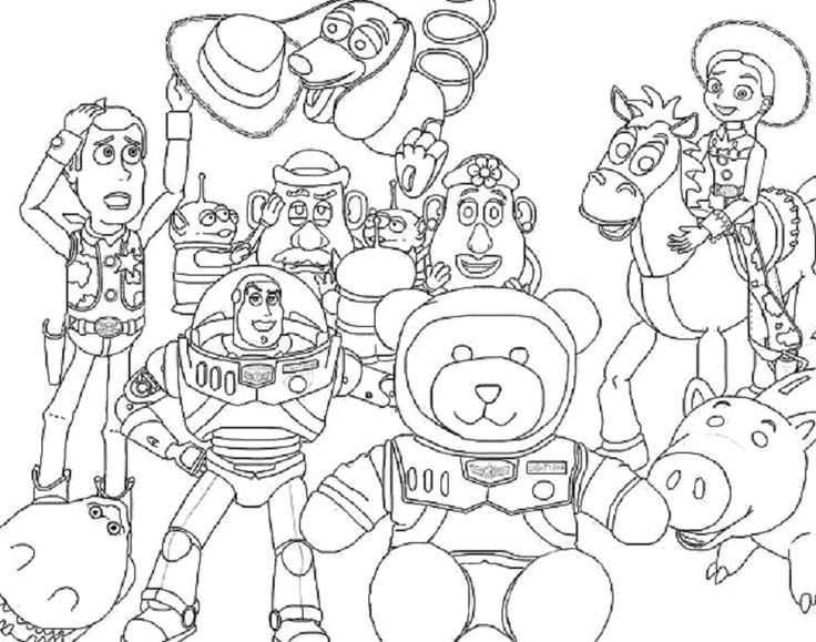 Toy Story Coloring Pages All Characters
