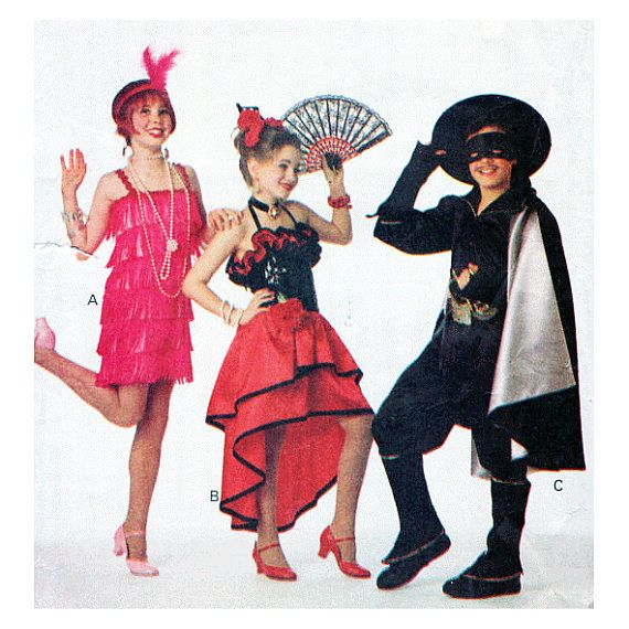 UNCUT Child or Tween Costume Sewing Pattern Flapper or