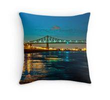 Jacques Cartier Bridge Throw Pillow