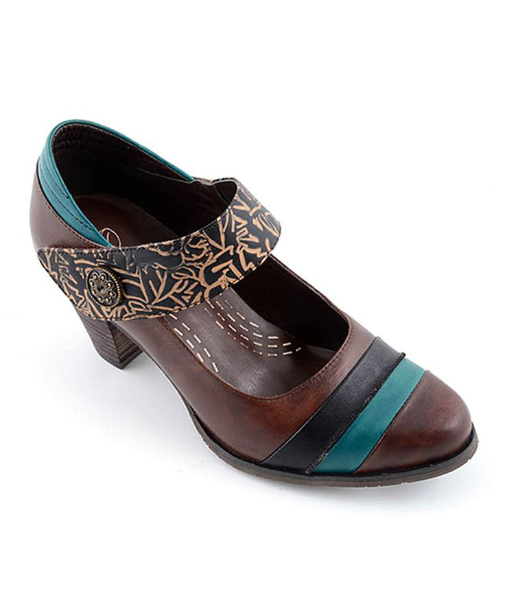 Look at this Corky's Footwear Brown Elite Leather Mary Jane on #zulily today!