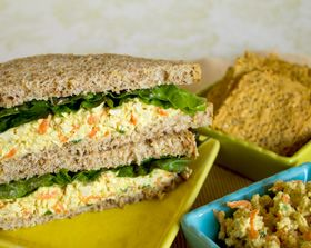 Meatless Monday, Tofu Salad Sandwich Spread: Easy delish protein rich supper and take along lunch for other days