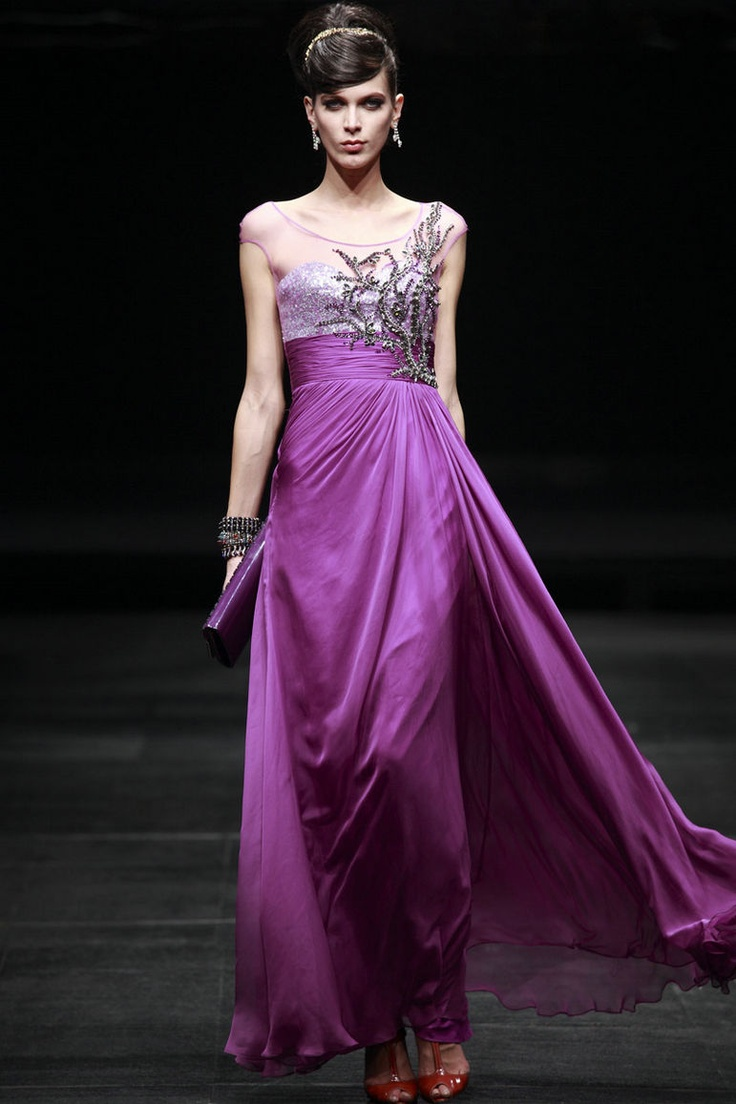 Elegant Purple Evening Dress