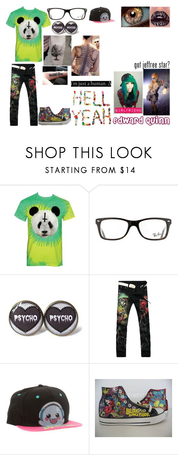 Edward Quinn // Margarets boyfriend by the-happy-emo ❤ liked on Polyvore featuring Jeffree Star, Ray-Ban, Converse, mens fashion and menswear