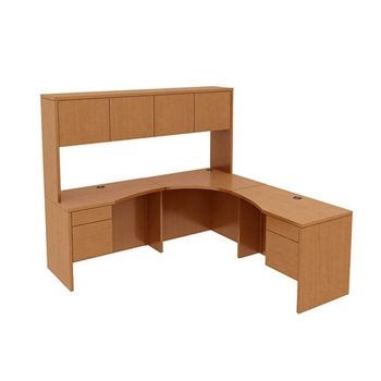 curved corner desk with hutch