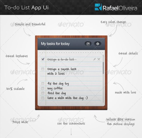 To-Do List App Ui - User Interfaces Web Elements