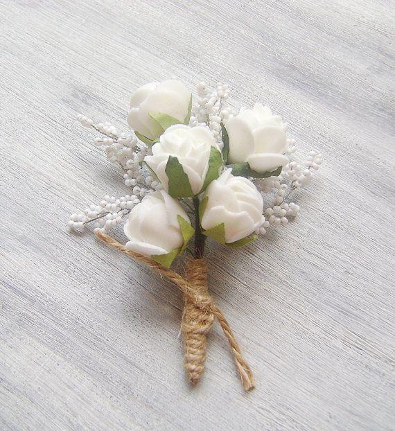 groomsmen wedding boutonniere Wedding Accessory by PrettyNatali, $17.00