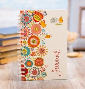 """Colorful journal """" With God every day""""."""